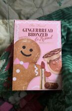 New in Box TOO FACED Gingerbread Bronzed & Kissed Set- Lipstick, Bronzer, Bag