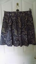 Ladies H & M blue cotton flower skirt size L