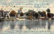 Indianapolis Indiana White River Waterfront Antique Postcard K34958