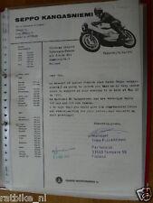 HT125-ORIGINAL AUTOGRAPH TIMO P.J.LEHTINEN FINLAND MANAGER KANGASNIEMI 1972