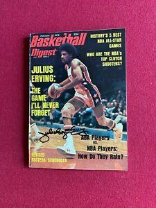 """1976, Julius (DR.J.) Erving, """"Autographed"""" (JSA) """"Basketball Digest """" Magazine"""
