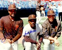 Roberto Alomar Sandy Alomar Jr. Sr. 3X signed autographed 1989 Padres 8x10 photo