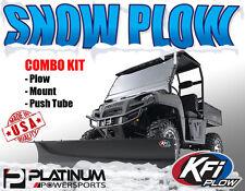 "POLARIS RANGER KFI 72"" SNOW PLOW COMBO Blade tube Mount 500 570 700 800 DIESEL"