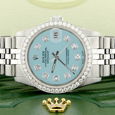 Rolex Datejust 31mm S/S Jubilee Women's Watch w/Ice Blue Dial & Diamond Bezel