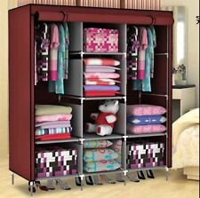 FOLDING WARDROBE STORAGE ALMIRAH A- 3 RBS light and trendy non woven cloth
