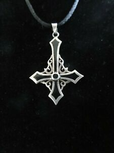 VTG Unique 925 Silver Enamel Celtic Inverted Petrine Cross Saint Peter Pendant