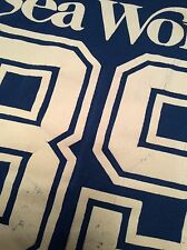 VTG SEA WORLD 89 Football Jersey-Style Shirt L 50/50 SOFT 1989 80s Theme Park FL