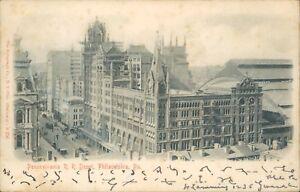 Pennsylvania railroad depot philadelphia rotograph co R 256 Textured  c1907