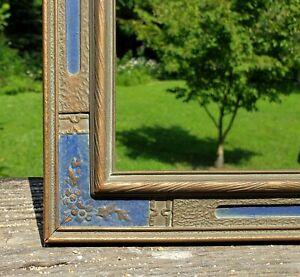 c1920 Excellent Maxfield Parrish Fox Blue Deco Daybreak Print 10 1/2 x 18 Frame