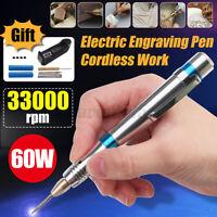 60W Electric Multifunctional Rechargeable Ergonomic Handle Engraving Pen Tool