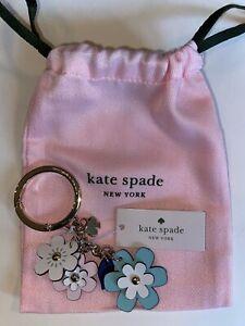 NWT Kate Spade Floral Leather Key Fob Keychain Bag Charm WOR00025 $59