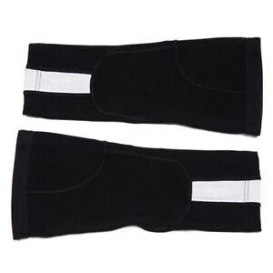 Rapha Cycling Knee Warmers Size Medium Black with White Stripe BNWT