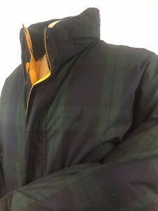 Nautica Reversible Retro Bubble Coat Green Plaid Yellow New W Tags Lrg fit XL