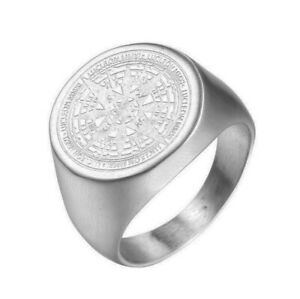 Stainless Steel Mysterious Compass Men's Craft Ring M102