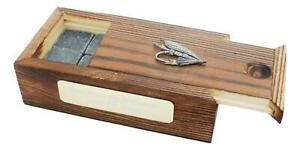 Fishing Fly Whiskey Ice Cube Stones In Wooden Box Personalised 130