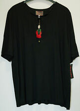 Shirt schwarz Gr.50 Marke Sempre Piu by Chalou Viskose 30%