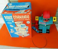 Ideal Robot Commando Toy Box 1961 Battery Op Voice Activated Remote Control