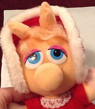 "Miss Piggy Plush Doll Stuffed Animal Holiday 1987 10"" McDonalds Christmas Vintag"
