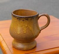Brown Pottery Pedestal Footed Coffee Mug 7112 McCoy USA