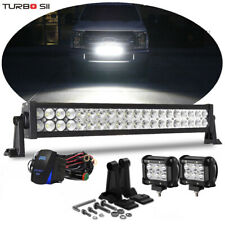 "Ford F250 F350 Super Duty Grille Bumper Light 20/22""LED Light Bar Combo w/Wiring"