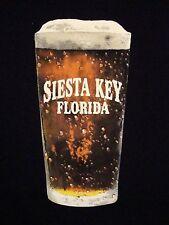 Siesta Key Florida Beach Ocean Souvenir Beer Spring Break T Shirt 2XL