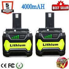 2Pcs 4.0Ah 18V XR Lithium Battery For Ryobi P108 ONE Plus P102 P103 P107 P105 M1