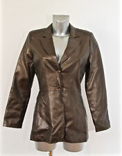 luxueuse coat veste faux cuir couleur bronze KRISTINA POPOVITCH taille 38  i42