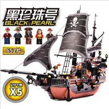 Gudi 652pcs Pirates Caribbean Black Pearl Ghost Ship large Models Building Block