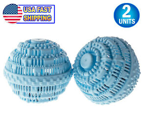 2 Eco Friendly Laundry Washing Cermaic Balls Natural Chemical + Detergent Free