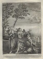 Stackhouse's Bible - LOT'S ESCAPE FROM SODOM - Copper Engraving - 1752