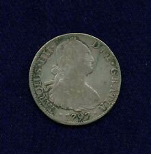 MEXICO SPANISH COLONIAL CHARLES IIII  1797-FM  8 REALES SILVER COIN, VF/XF