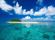 Wall mural photo wallpaper Tropical Island vacation paradise blue sky and sea