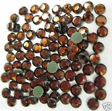 Glass Stone, Rhinestone Hot Fix Iron on SS10(3mm) Topaz Rhinestuds 1gr 144pcs