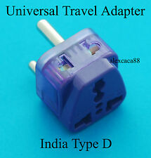 Universal Australia to India Type D Travel Adaptor AC Power Plug 2 Receptacls