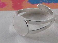 AG base anello regolabile da incollo tondo mm. 10 in argento 925