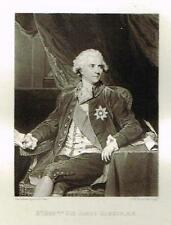 "Mezzotint Engraving Proof - ""SIR JAMES HARRIS"" - by Sir Joshua Reynolds - c1820"