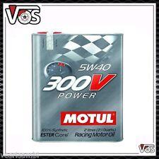 2 litri Motul SAE 5w40 300v Power Motore Olio