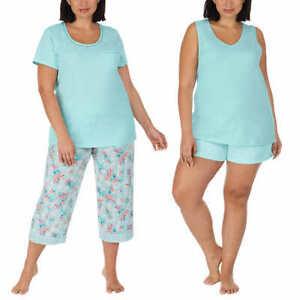 Carole Hochman Ladies' 4-piece Pajama Set - LIGHT BLUE (Select Size: XS-3X)