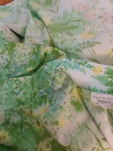 Vintage Springmaid Wondercale Sheets MICHELLE Flowers double flat fitted cases