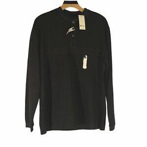 Haggar Long Sleeve Shirt Built In Tee Dark Green Size Small.