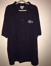Men's LACOSTE Blue Pique Cotton Short Sleeve  Logo Polo Shirt 11L 4XLT Big Croc
