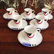 MIKASA Japan MAXIMA  - 6 schöne Kaffeetassen mit Untertassen