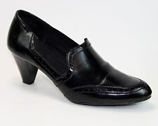 """East Fifth Size 10  Black Loafers 3"""" Heels Oxford Loafers Office Medium Width"""