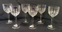 Set 6 Marquis Waterford OMEGA Goblet Water Wine Crystal Stemmed Glasses