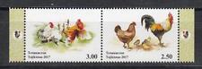 China Horoskop Tajikistan  MNH** 2017 Mi.753-754 ZdA Year of Rooster Cock