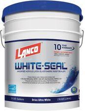 Lanco 5 Gallon White Seal Elastomeric Roof Sealer Rubberized Styrene Acrylic