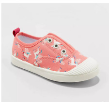Cat & Jack Toddler Girls' Alivia Pink Pull-on Sneakers Size 10 Pull-on Pre-owned