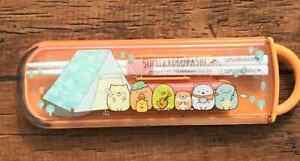 Sumikko Gurashi  Spoon Chopsticks Case Set  Lunch  San-X Japan Dishwasher Safe