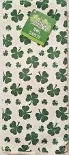 St. Patrick's Day Kitchen Towels Set Of 2 White With Green Shamrocks Holiday
