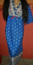 RAR tolles langes (130 cm) Vintage Hippy Nachthemd Gr. 44-46 wie neu ! (H598)